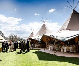 Tipi wedding outdoors drinks