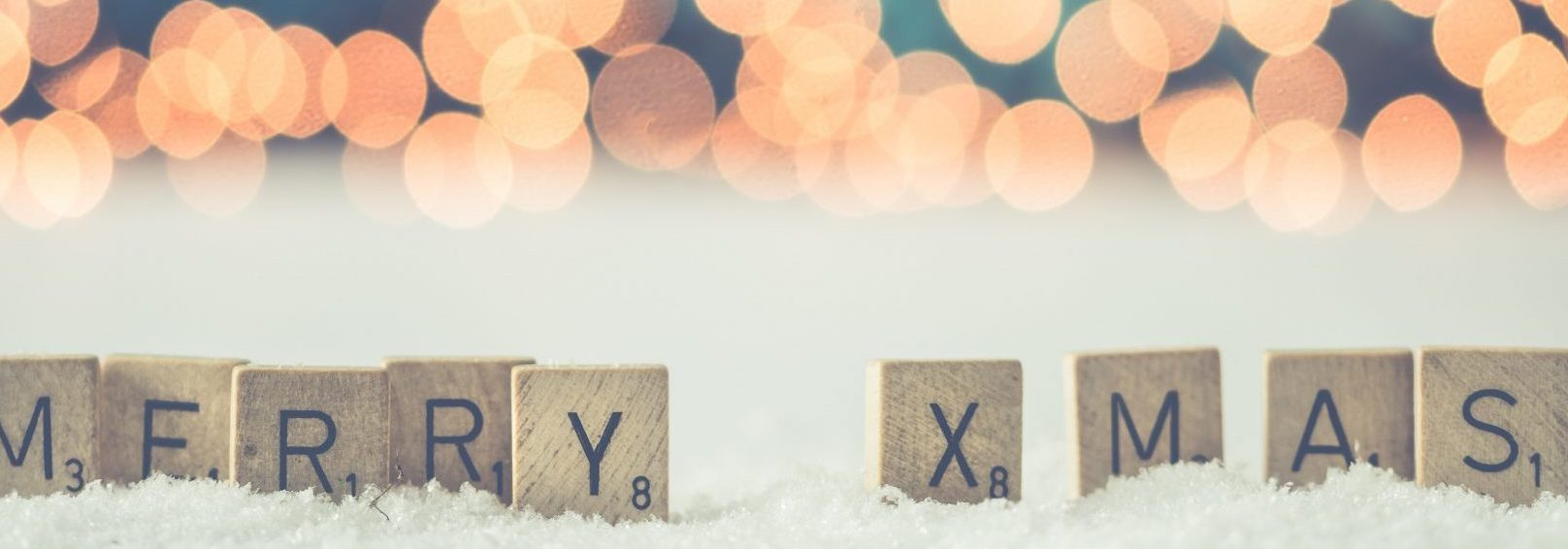 Merry Christmas Scrabble letters