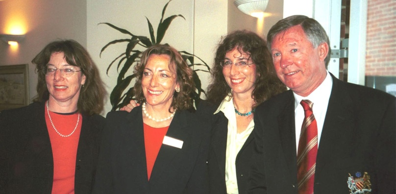 Sir Alex Ferguson with the Peake Sisters 2000