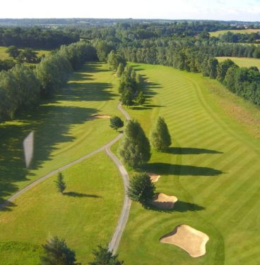 Aerial view of Stoke by Nayland golf course