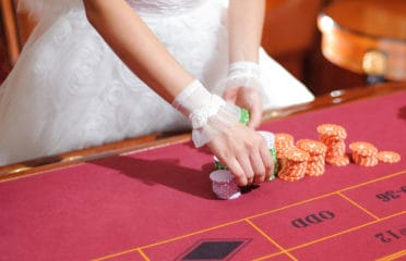 Wedding casino themed table